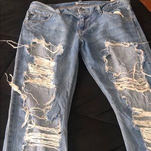 Levi Med Wash Deconstructed Denim Jeans